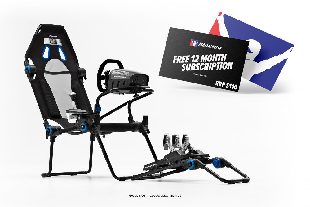Next Level Racing F-GT Lite Formula and GT Foldable iRacing Edition Simulator Cockpit 1
