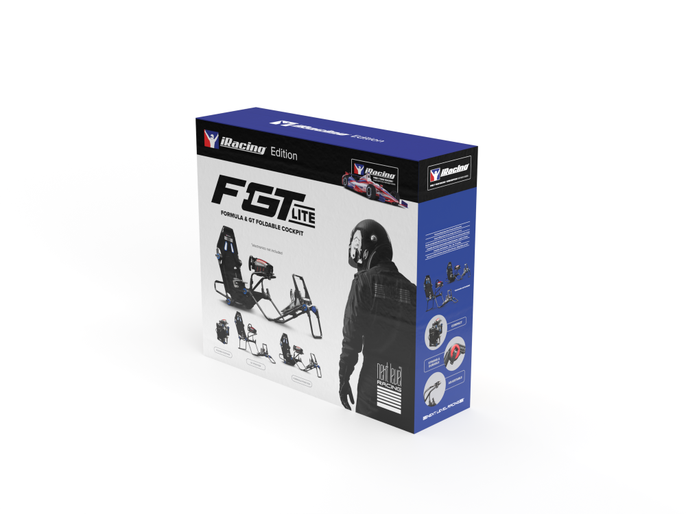 Next Level Racing F-GT Lite Formula and GT Foldable iRacing Edition Simulator Cockpit 14