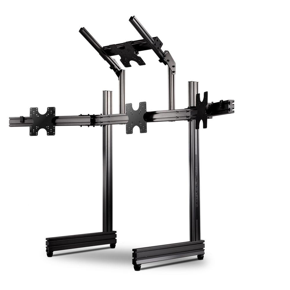 Elite Freestanding Quad Monitor Stand Carbon Grey 1