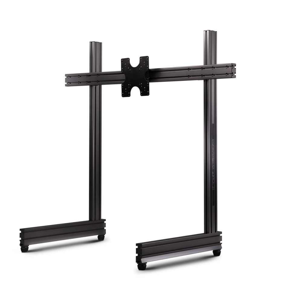 Elite Freestanding Single Monitor Stand Carbon Grey 1